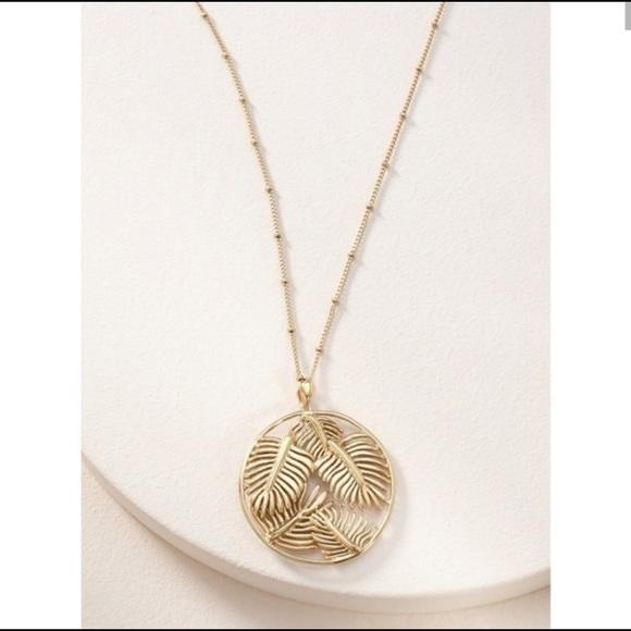 Stella & Dot Filigree Botanical Necklace
